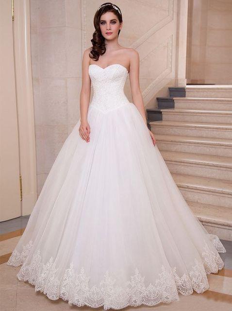 Vestidos de novia sencillos y elegantes con encaje