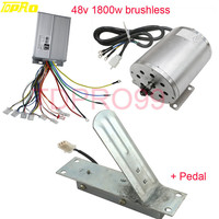 1800W 48V Motorcycle Brushless Electric Motor Speed Controller Scooter Throttle Foot Pedal For ATV Go Bike Scooter Pitbike