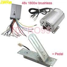 אמיתי TDPRO 1800 W 48 V Brushless חשמלי מנוע מהירות בקר מצערת רגל דוושת עבור טרקטורונים ללכת Kart באגי אופני קטנוע Pitbike