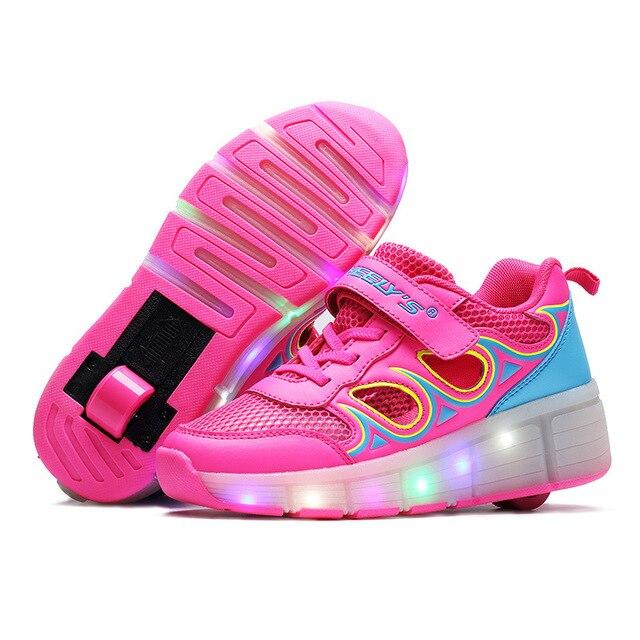 Kinderschoenen Maat 29.Kinderen Heelys Jazzy Junior Jongens En Meisjes Wiel Schoenen Mode