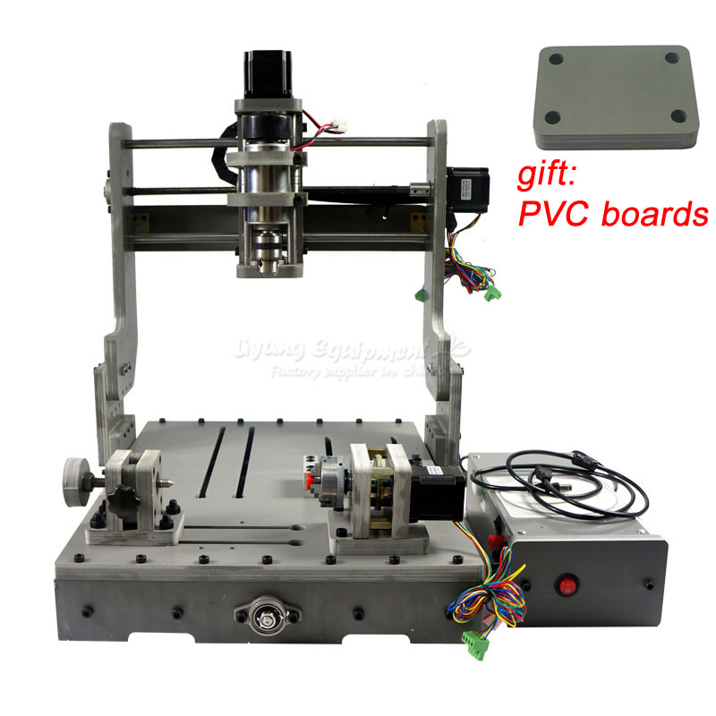 Mini DIY CNC 3040 3axis 4axis cnc router for wood metal stone cutting pvb engraving machine with USB port