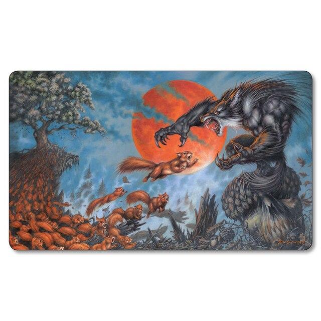 Wolf игры коврик для мыши Волшебный playmat Сбор mtg настольная игра в карты Играть мат большой игровой коврик стол