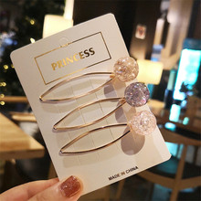 3 pieces / set of new color candy fashion womens summer refreshing clip headdress side wedding hair accessories gifts