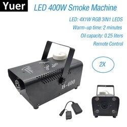 LED RGB bezprzewodowy pilot 400W mgła maszyna do dymu DMX maszyna Hazer efekt oświetlenia scenicznego sprzęt dj oświetlenie na imprezę LED Fogger