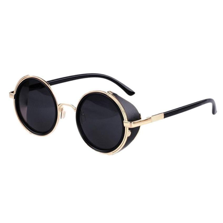 #5 Lente espelho Rodada Óculos de Cyber Goggles Steampunk Óculos De Sol Retro Vintage