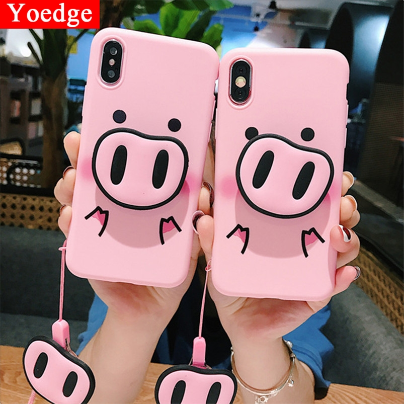 3D Pig Nose Soft Silicone Cover For <font><b>Samsung</b></font> Galaxy S10 S8 S9 Plus S10e A40 A50 A30 A20 A60 A70 M20 M30 Note 8 9 A7 A9 2018 <font><b>Case</b></font> image