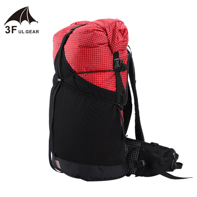 3F UL GEAR 35L Lightweight Durable Travel Camping Hiking Backpack Outdoor Ultralight Frameless Packs XPAC & UHMWPE 3F UL GEAR