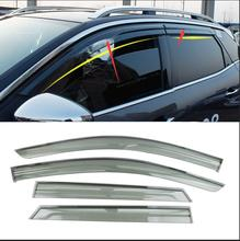 lane legend case For Peugeot 4008 2017 Car Stylingg Awnings Shelters Window Visors Sun Rain Shield Stickers Covers 4pcs/lot