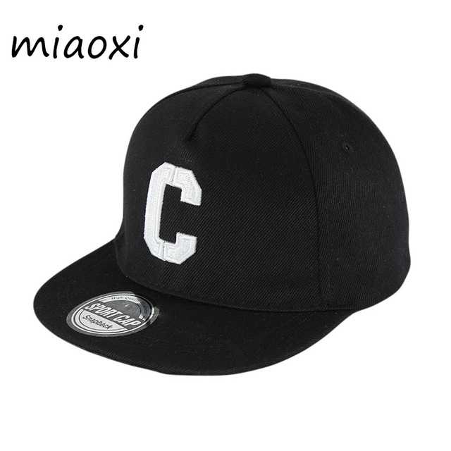 miaoxi New Arrival Kids Letter Summer Baseball Cap For Boys C Hip Hop Adjustable Casual Unesex School Fashion Hats Girl Caps