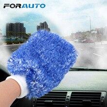 FORAUTO перчатки для чистки автомобилей сверхтонкие волокна моющиеся Перчатки Уход за краской автомобиля детализация мягкая губка легко использовать авто обслуживание