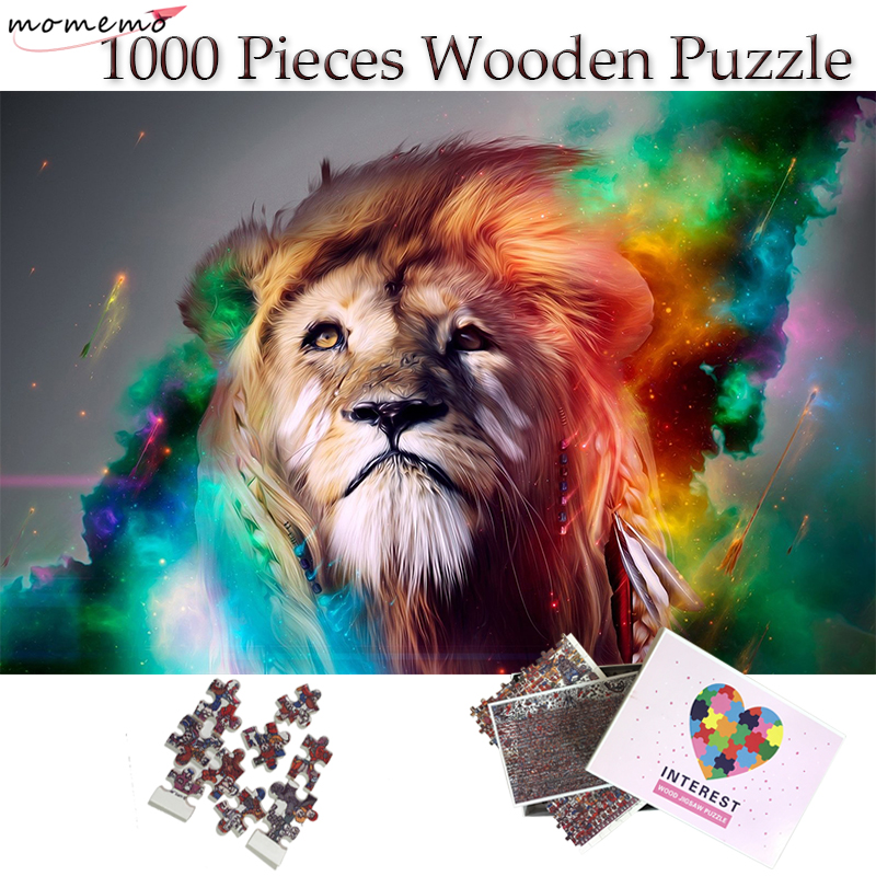 MOMEMO Star Lion Puzzle Interesting Wooden 1000 Pieces Growups Jigsaw Puzzle Fantasy Puzzle Toys For Children Adults Teenagers