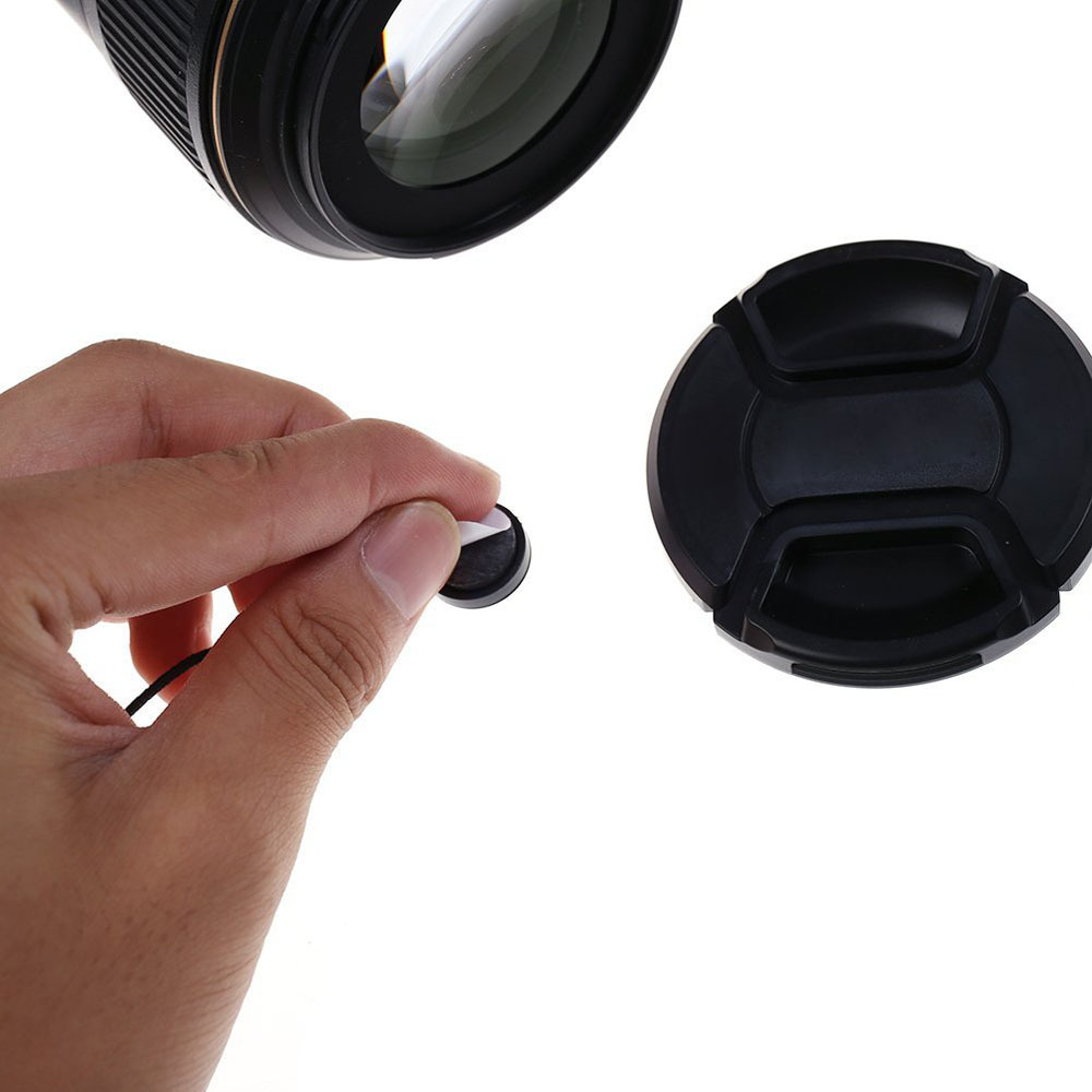 Image 2 - Kaliou 2pcs Universal Anti lost Lens Cover Cap Keeper Holder Safety Rope for Canon Nikon Sony Panasonic Fujifilm Camera DSLR-in Photo Studio Accessories from Consumer Electronics