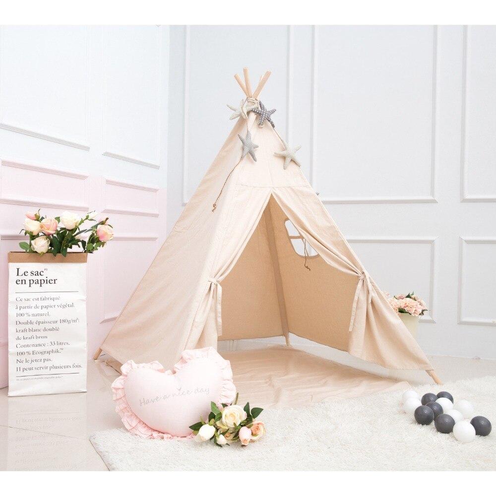 Princess Kids Teepee Play Carpa 100% algodón lienzo niños Tipi - Deportes y aire libre - foto 5