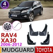 Para a Toyota RAV4 2006 ~ 2012 Mudguards Mud Flaps Mudflap XA30 Fender Proteção Contra Respingos Flap Acessórios Do Carro 2007 2008 2009 2010 2011