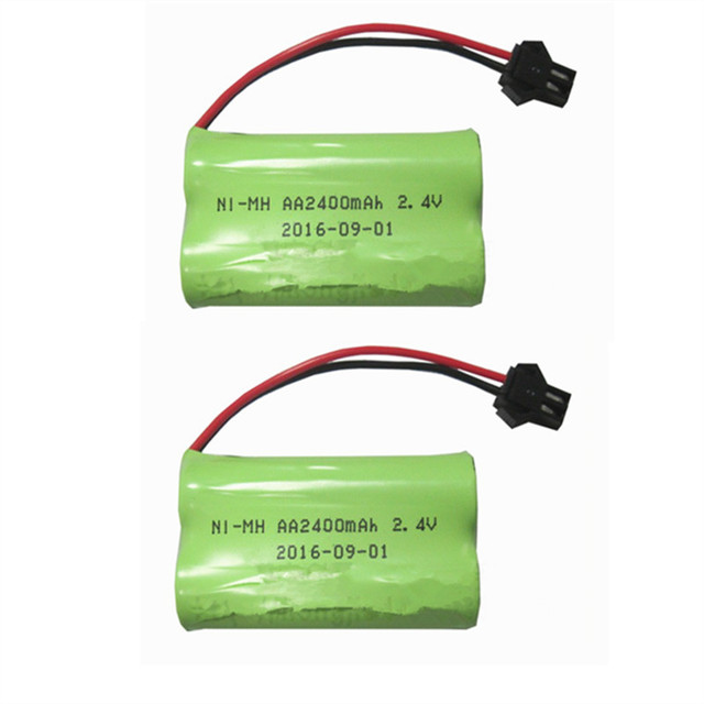 2pcs Baterie Pack Aa Ni Mh 2 4v 2400mah Rechargeable Battery For Rc Electric Toy Tool Nimh