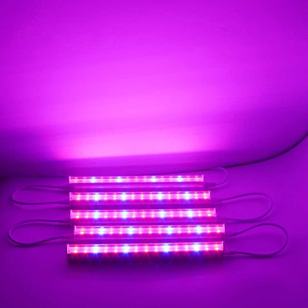 110V 220V EU US plug switch LED Grow light plants Growth lamp Bar light 660nm Red / 450nm Blue bulb Flower fruit 5W 10W 15W 25W