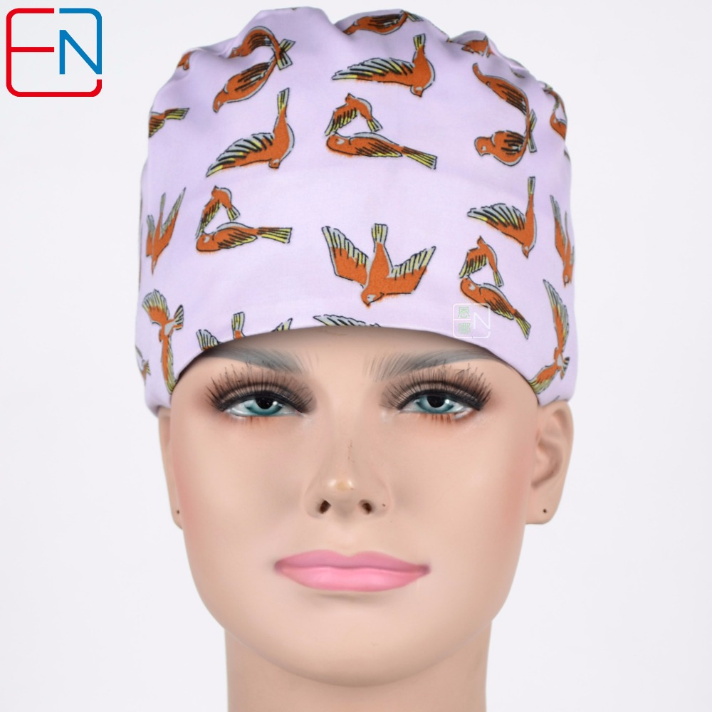 Women Surgical Caps In Purple Pink,medical Caps