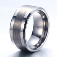 Soul Men Customize 12mm Silver Solid Tungsten Carbide Wedding Band Personalize Big Rings for Men Boy Free Laser