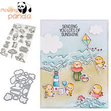 moving panda JC394 BEACH CHICKIES Metal Cutting Dies and stamps DIY Scrapbook paper craft album card punch knife art cutter die