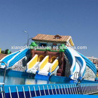 Custom kids adult size inflatable bouncy castle with water slide