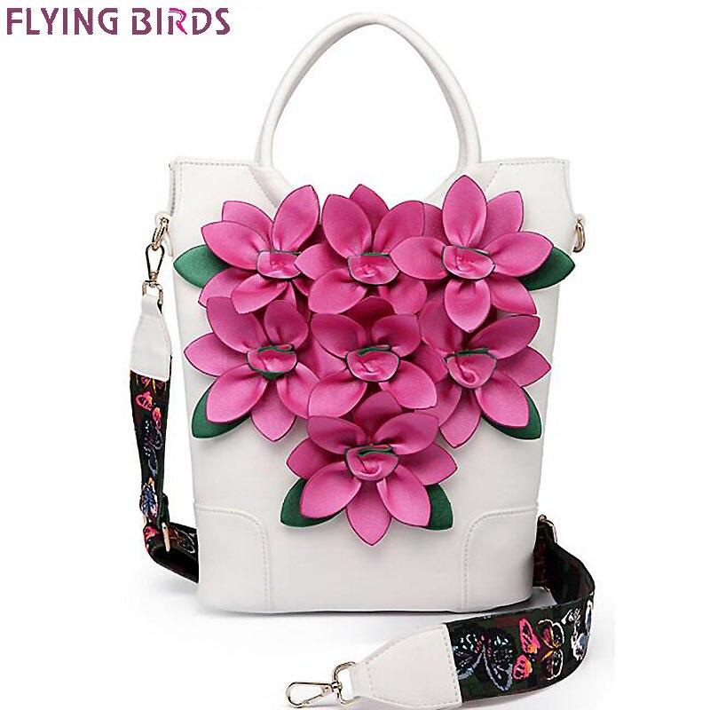 Летящие птицы женские сумки Роскошный цветок Сумка ковша плечо сумка женская сумки Национальный стиль LM4384fb