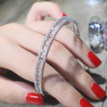 Designer Fashion 925 Sterling Silver Jewelry Platinum Plated 3A Cubic Zirconia Bangle