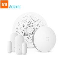 Xiaomi Aqara Mijia Smart Remote Control Set Home Security Multi Functional Gateway Window Door Sensor Kit