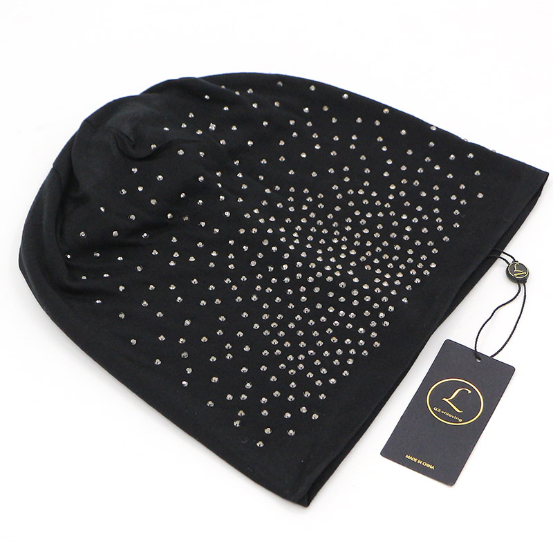 38c09671ab US $6.0 20% OFF|Rhinestone Beanies Women Spring Glitter Knitted Winter Cap  Solid Color Skullies Slouchy Beanie Hats Bonnet Womens Cap Hat Gorro-in ...
