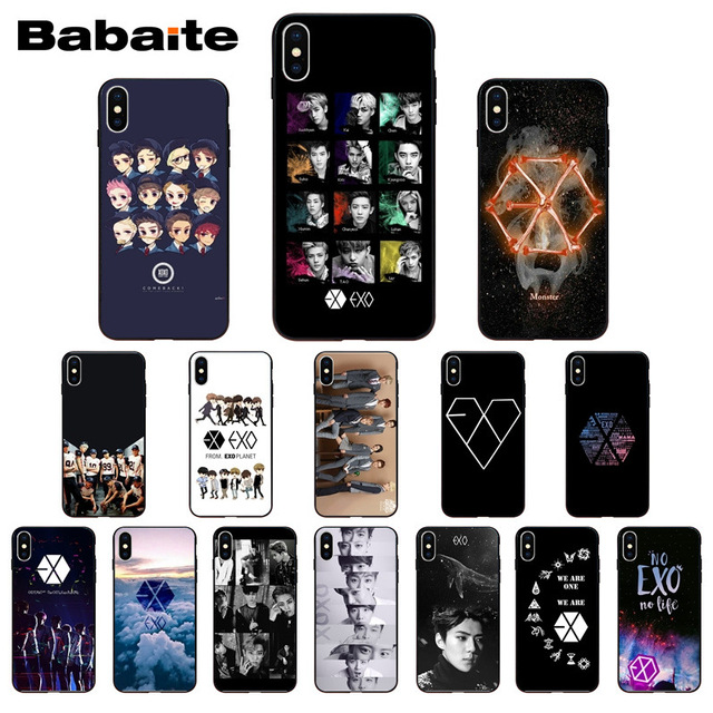 Park Chanyeol Exo Star Kpop Exo Lucky One Soft Silicone Black Phone