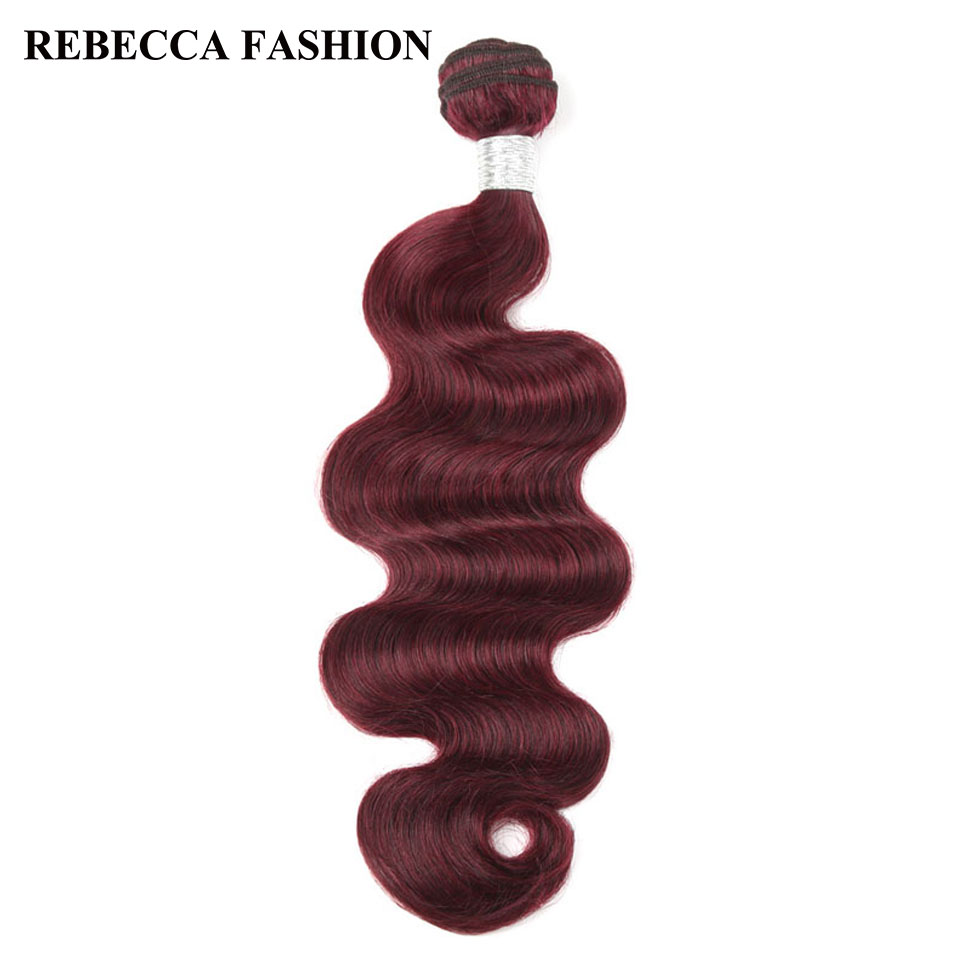Rebecca Реми перуанской тело волна волос 1 пучок чистого Красного вина человеческих воло ...