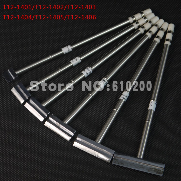 6pcs lot soldering iron tip Soldering Station Spade Scraper type T12 Soldering Iron Tips T12 1401