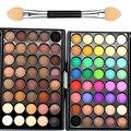 40 color profesional de maquillaje de la marca lots brillo mate bronceador naked nude paleta de sombra de ojos cosméticos sombra de ojos a prueba de agua