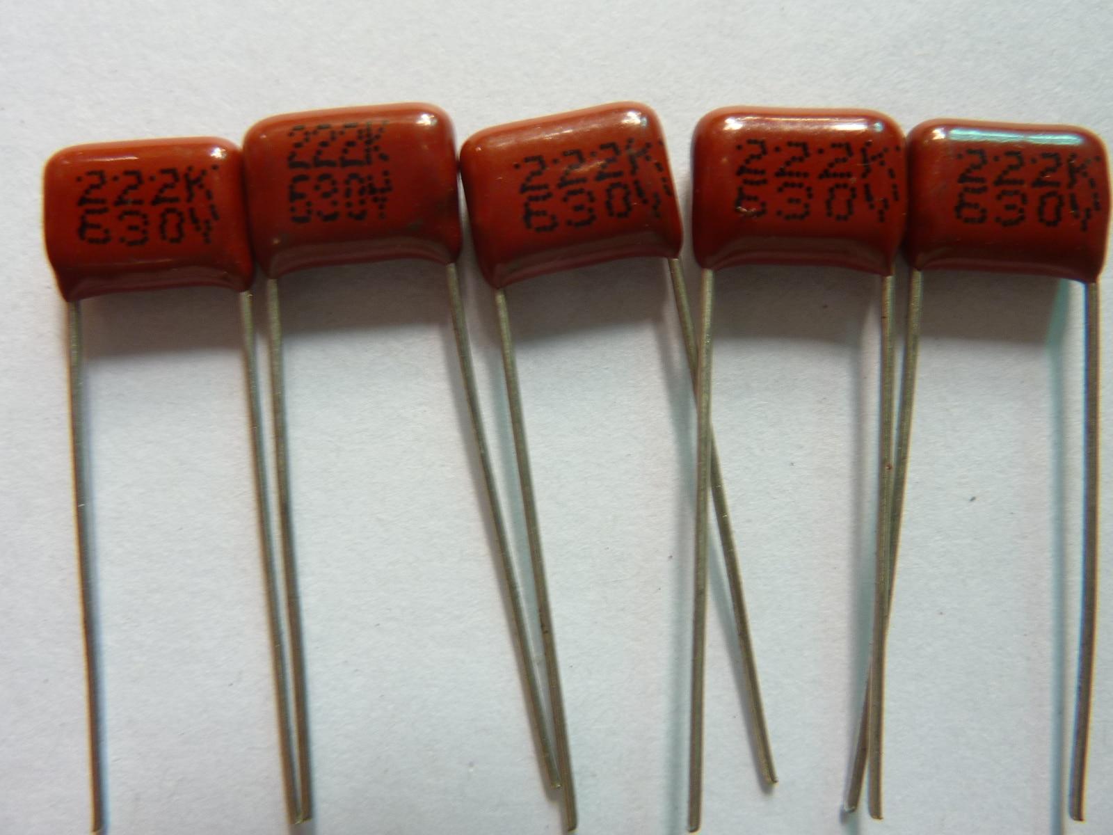10pcs CBB 222 630V 222K CBB21 0.022UF 2.2nF P8 Metallized Polypropylene Film Capacitor