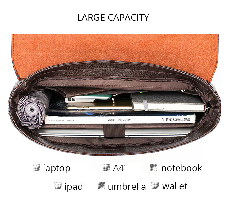 HTB1ijsYO9zqK1RjSZFjq6zlCFXag 2020 Fashion Business Men Briefcase Leather Laptop Handbag Tote Casual Man Bag For male Shoulder Bag Male Office Messenger Bag