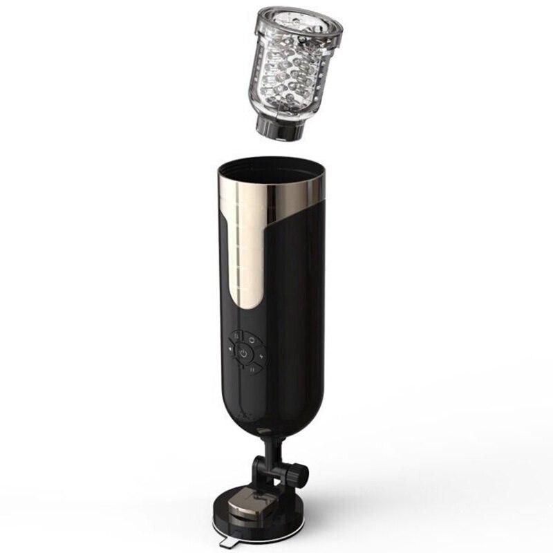 Masturbador elétrico completo automático masculino rotação de voz telescópica interação handsfree sexo máquina real vagina brinquedo do sexo para homem - 3