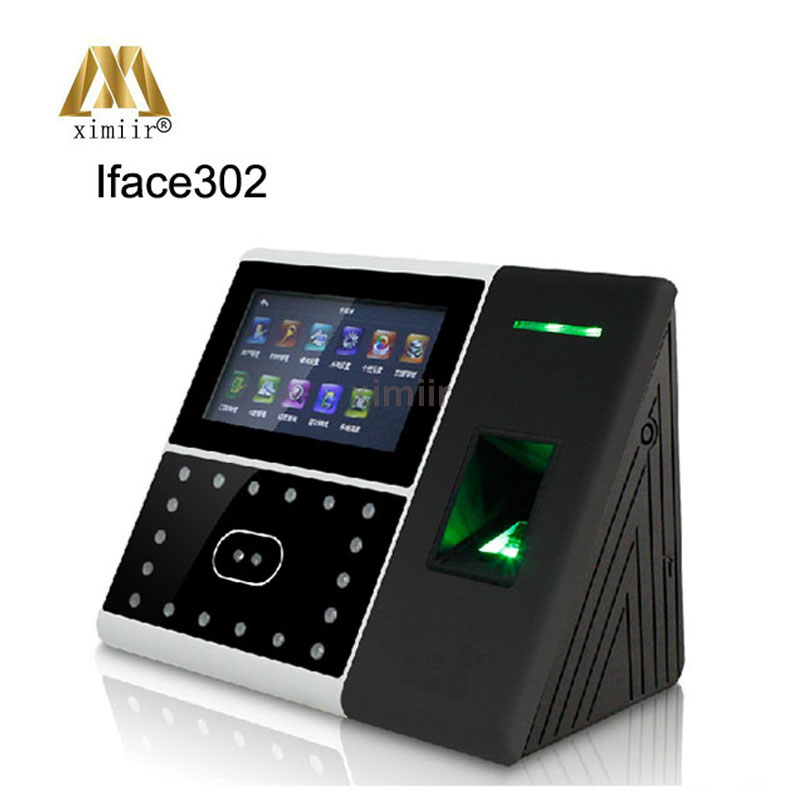 TCP/IP Linux System Iface302 Facial And Fingerprint Access Control And Time Attendance With Back Up Battery Time Recording