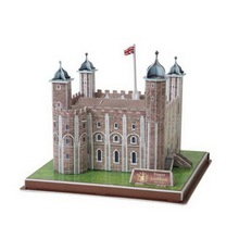 Deals 3D Puzzle Jigsaw Toys For Children Tower Of London Fortress 40 Pieces DIY Assemble Educational Toy Kids Toys