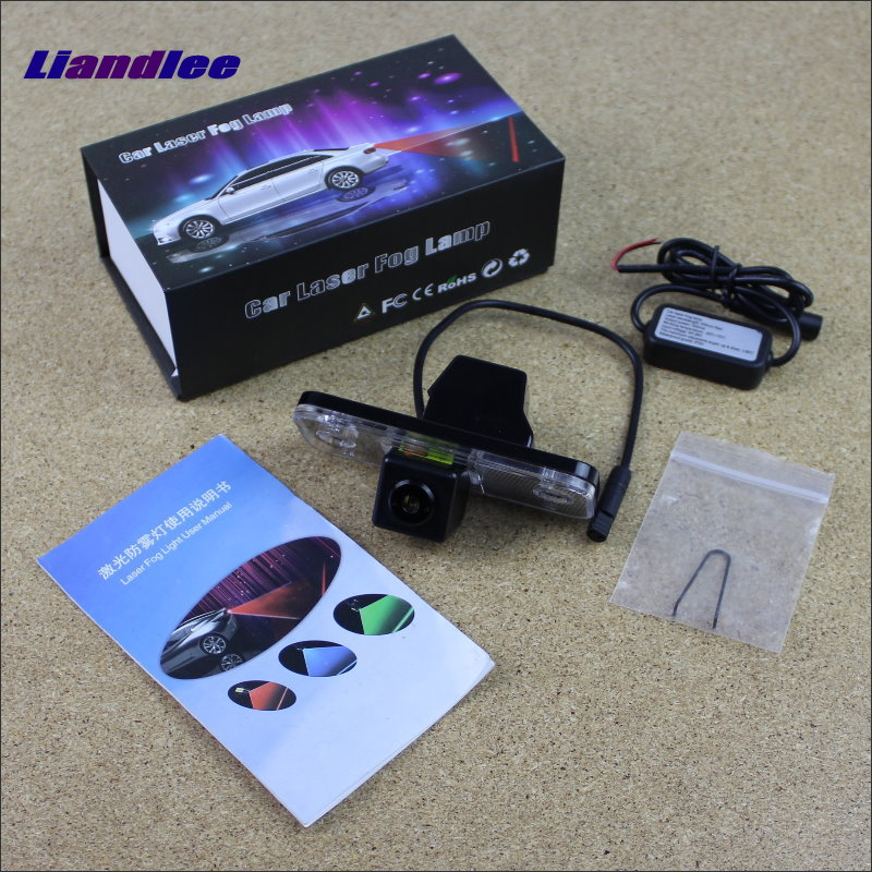 Liandlee Anti Laser For Hyundai Santa Fe 2007~2012 Car Prevent Mist Fog Lamps Laser Anti Haze Lamps Warning Rear Light seintex 85749 hyundai santa fe 2013 black