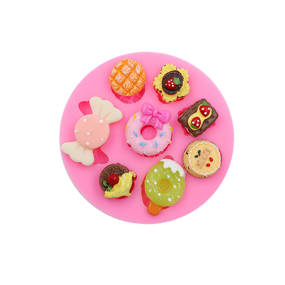 Cartoon ice cream candy candy cakes silicone mold DIY handmade chocolate crafty cakes dessert decoration baking gadgets new