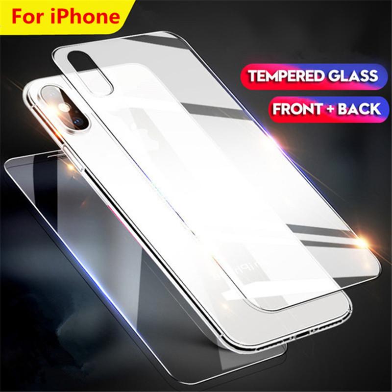 Tempered Glass For Iphone X XS Max XR 4 S 5 5S SE Cover Front Back Film Screen Protection for Iphone 6 6s 7 8 Plus ProtectorTempered Glass For Iphone X XS Max XR 4 S 5 5S SE Cover Front Back Film Screen Protection for Iphone 6 6s 7 8 Plus Protector