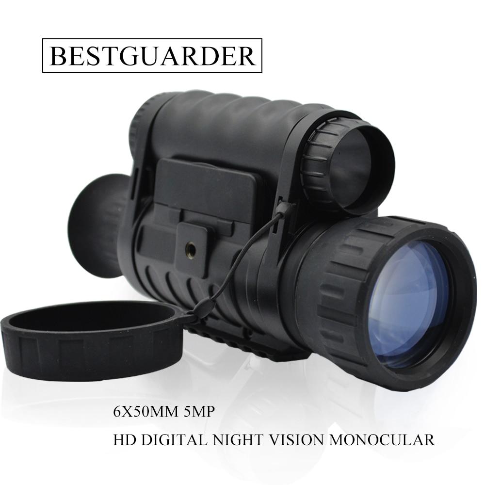 6x50mm HD Rəqəmsal Ovçuluq Gecə Görmə Monocular Gözlüklər - Düşərgə və gəzinti - Fotoqrafiya 2