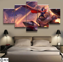 Hot Sales Without Frame 5 Panels Picture LOL League of Legends Rumble Print Artwork Wall Canvas Art Painting Wholesale