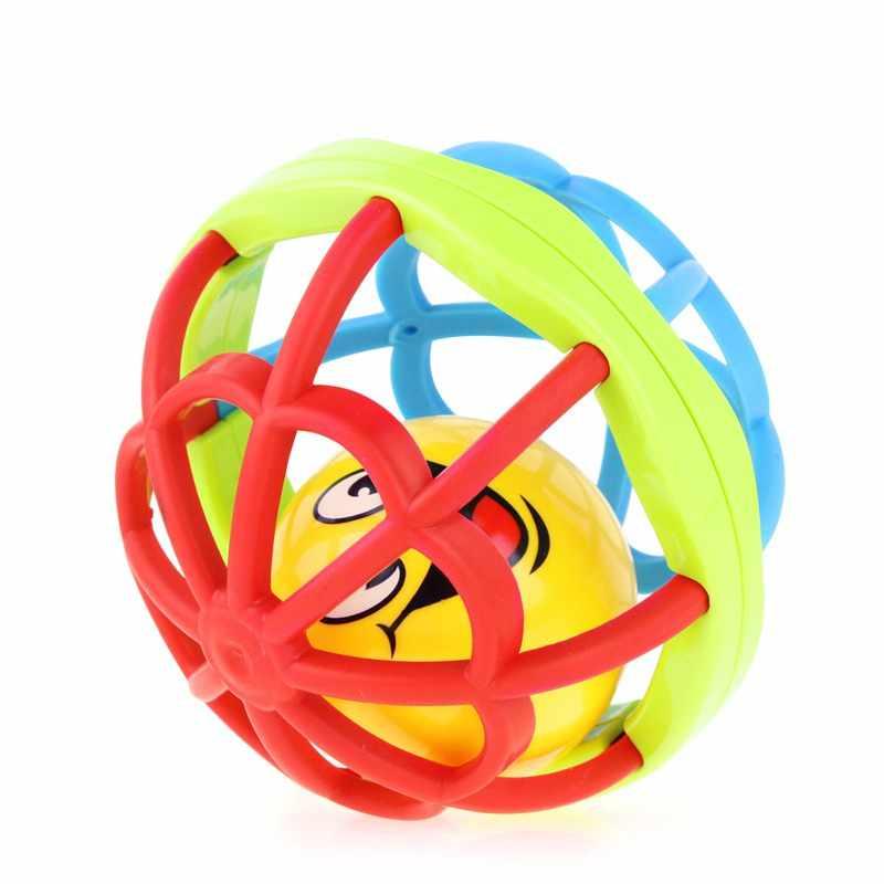 Для новорожденного мягкий погремушка фитнес веселье маленький громкий звонок мяч хватательные игрушки пластиковый колокольчик погремушки для младенца малыша Прорезыватель игрушки