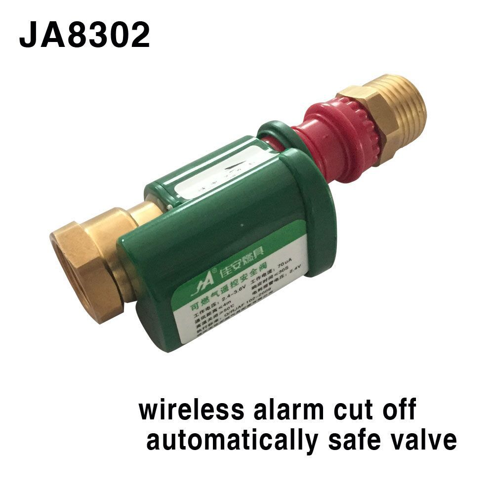Home Improvement ... Heating, Cooling & Vents ... 32354010636 ... 2 ... Alarm Systems Security  JA 8302  Gas Leak Valve Wireless Thermal Leak Detector Alarm Set household  Hardware solenoid valve ...