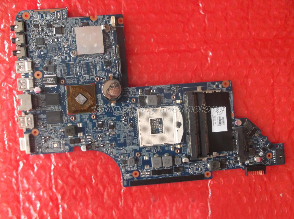 SHELI laptop Motherboard For hp Dv6-6000 641487-001 DDR3 HM65 HD6490/1G non-integrated graphics card