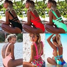 Sexy One Piece Swimsuit Women 2019 Summer Beachwear Lace One Shoulder Swimwear Bathing Suits Bodysuit Monokini Swimsuit