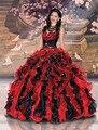 Quinceanera vestidos / vestido de baile sem mangas pescoço namorada de Organza