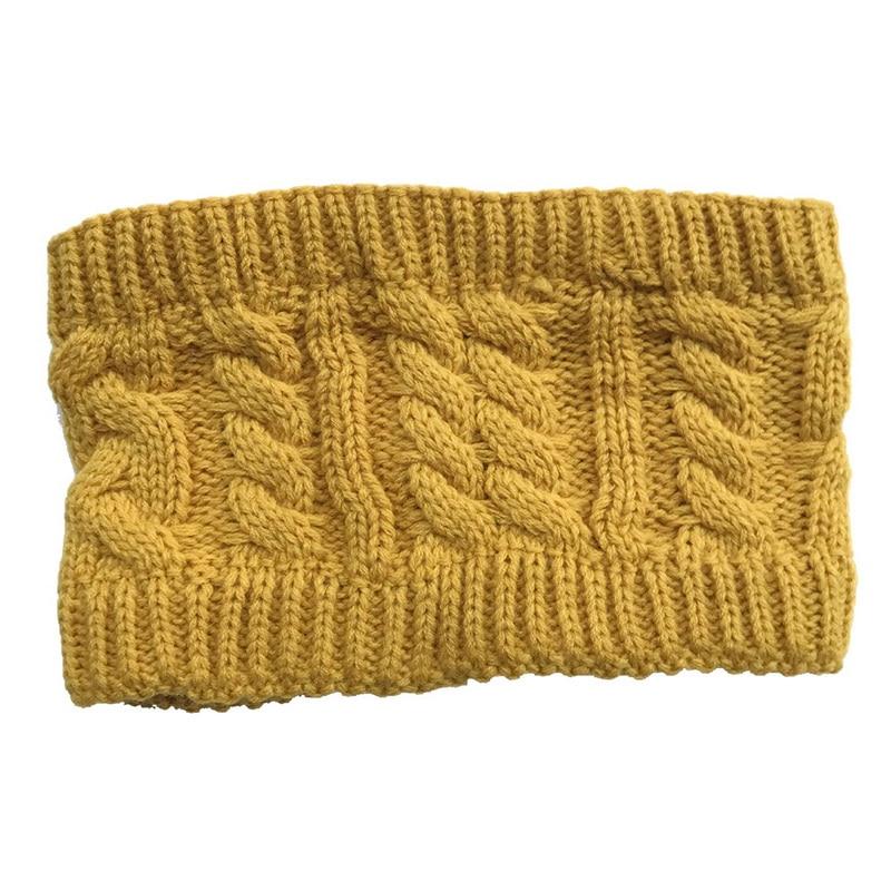NIBESSER Fashion Snowboard Warm Knitted Cap Snap Skullies Bonnet Beanie No Top Wool Hat Women Multi-purpose Hat 18