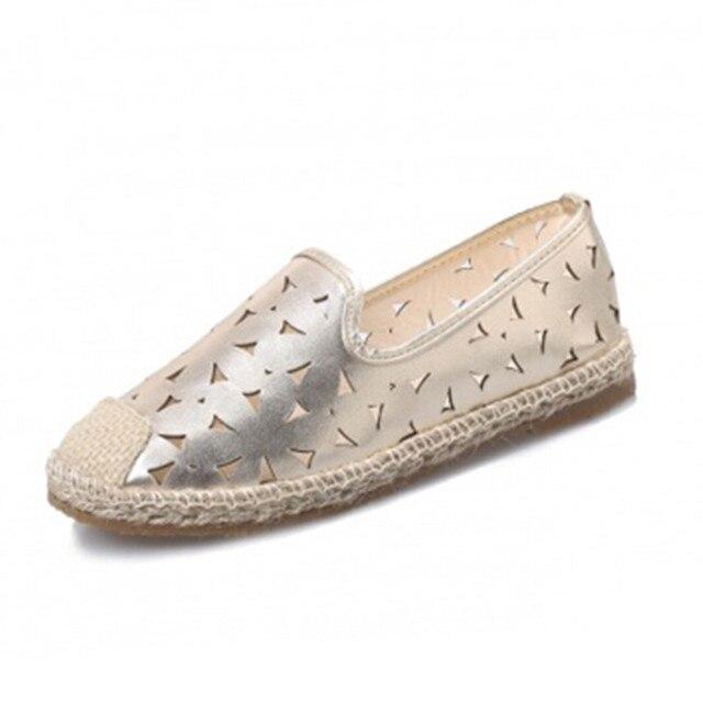 2016 новый дизайн бренда женщины бездельник обувь туфли-женщин кат-аутов non-slip квартиры весна лето свободного покроя женщина Большой размер 35 - 40