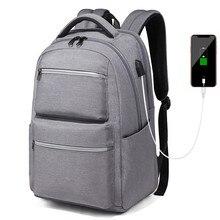 مكافحة سرقة الرجال حقائب الظهر USB شحن مدرسة حقائب للمراهقين بنين سعة كبيرة 16 بوصة محمول على ظهره السفر الرجال على ظهره